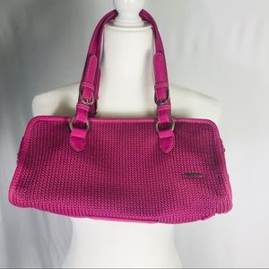 The Sak Hot Pink Purse with 2 Straps
